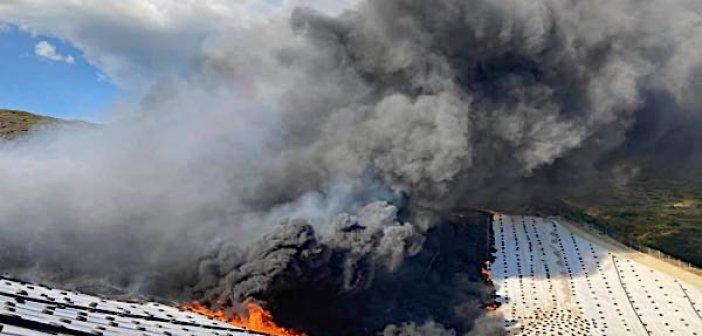 Η φωτιά στο ΧΥΤΑ Μεσολογγίου τώρα φέρνει και καθυστερήσεις στην αποκομιδή
