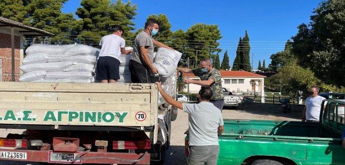 Αποστολή ζωοτροφών και στους πληγέντες κτηνοτρόφους στο Θύρρειο του Δήμου Ακτίου – Βόνιτσας