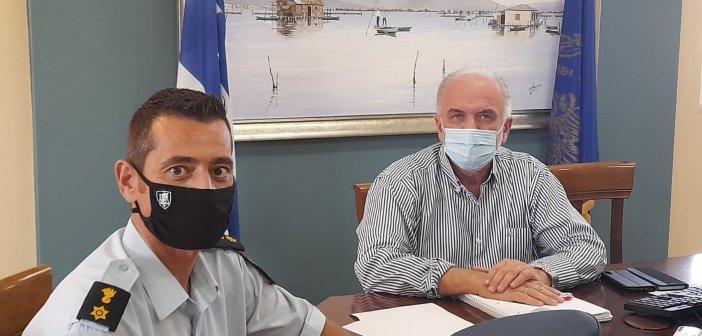 Μεσολόγγι: Συνάντηση Κώστα Λύρου με τον Διοικητή της Τροχαίας