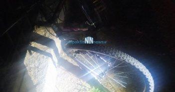 Τροχαίο ατύχημα στη Δάφνη Ναυπακτίας με τραυματισμό ποδηλάτη
