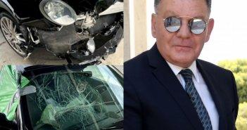Αλέξης Κούγιας: «Σμπαράλια» το αυτοκίνητο μετά το τροχαίο στην Εθνική οδό