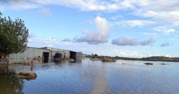 """""""Λιμνοθάλασσα"""" ο κάμπος του Λεσινίου  – Τεράστιες καταστροφές σε κτηνοτροφικές μονάδες (βίντεο)"""