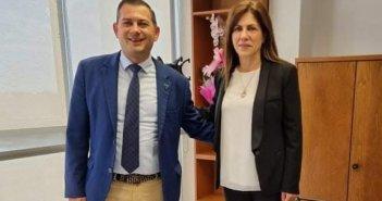 Συνάντηση Θ. Βασιλόπουλου με τη νέα Αντιπρόεδρο του «ΕΛΓΟ ΔΗΜΗΤΡΑ» Γεωργία Μπόκα