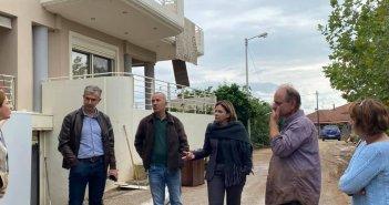Η Χριστίνα Σταρακά μαζί με συνεργάτες της στις πληγείσες περιοχές